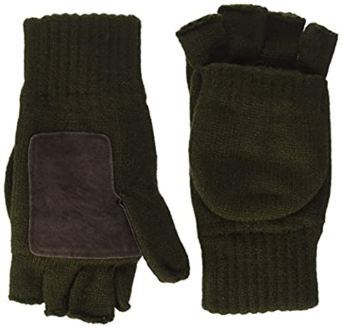 Highlander Falher Warm Knitted Gloves/Mitt - Olive, Large
