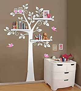 Étagère murale Arborescence, autocollants muraux en pépinière, étagères muraux décoratifs Wall Art Moderne sticker décoration des chambres Kids room decor