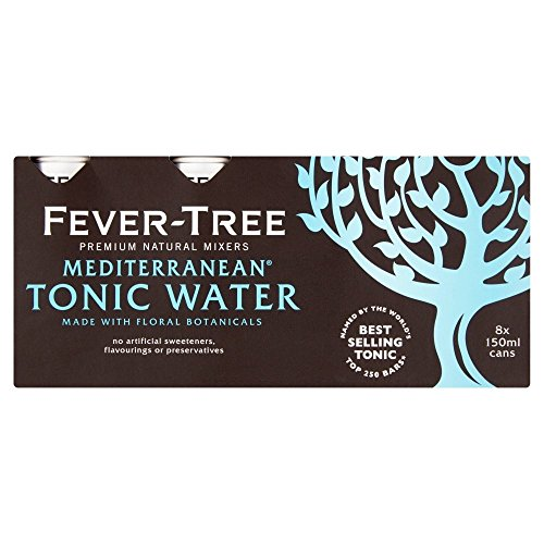 fever tree mediterranean tonic Fever Tree Mediterranean Tonic Water in Cans 8x150ml