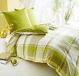 Kaeppel Seersucker Bettwäsche Smart grün 135x200 cm + 80x80 cm