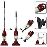 Herramienta 2 en 1 – Aspirador escoba y manual de 800 watt sin saco – capacidad de 1,5 litros color escarlata 70db