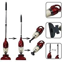 Todeco - Aspiradora 2 en 1 Vertical y De Mano, Aspiradora 2 en 1 - Capacidad del recipiente de polvo: 1,3 L - Potencia máxima: 800 W - Rojo