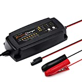 TCOCHE Cargador de Batería Inteligente Automático/Desulfator/Mantenedor,2/4/8 Amp Cargador de Batería Coche y Mantenimiento Automático de Batería para 12V de Coche,Camión y Motocicleta (2/4/8A)