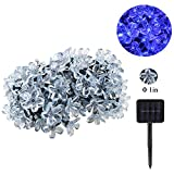 ANG 100 LED Solar String Fairy Lights 15m Blossom for Indoor ,Outdoor, Garden, Home ,Christmas ,Wedding and Party (Blue)