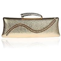 Nuova borsa a mano pacchetto vestito bag banchetto diamante di sera borsa hasp della borsa di modo sacchetto della femmina ( colore : Oro )