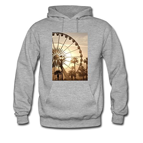 HKdiy Ferris wheel Custom Classic Men Hoodie Gray-1