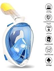 Zenoplige unterwasser maske mit 180 Grad Schnorchelmaske, Voll-Gesichtsmaske, freie Atmung, fürs Tauchen, mit Schlitz