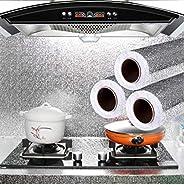 Waterproof/Heat-Resistant/Oilproof Kitchen Aluminum Foil/Kitchen Backsplash Wallpaper/Stickers (1.3 by 16.5 Fe