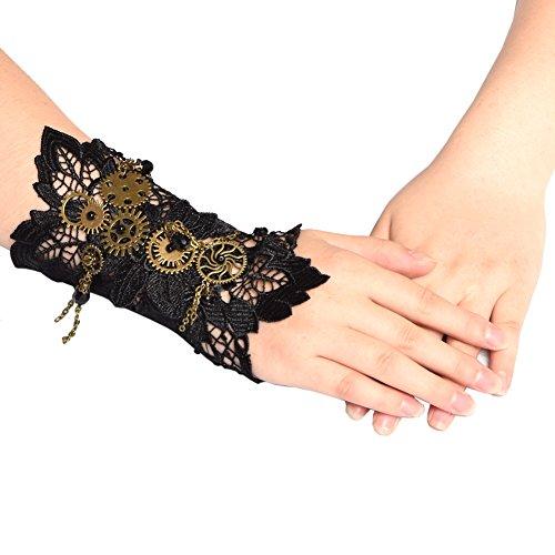 BLESSUME Victorian Steampunk Handgelenk Cuff Gear Armband Ein PCS (Mehrfarbig 1)