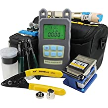 Sunkee Fiber Optic FTTH Tool Kit with FC-6S Fiber Cleaver and AUA-70A Optical Power Meter 1Mw Visual Fault Locator