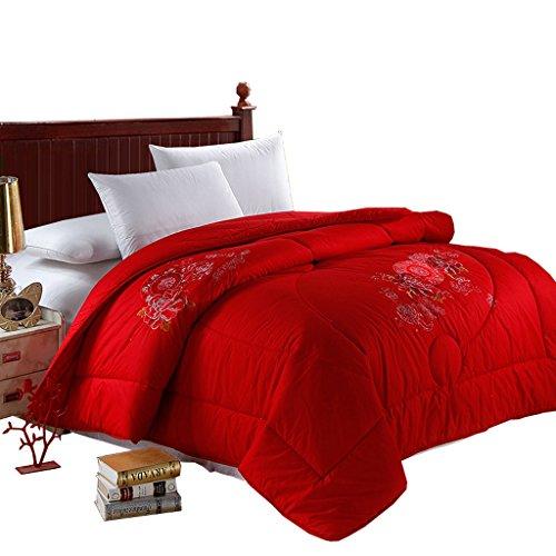 MMM Literie de couette de coton de coton rouge Couette brodée de festif d'hiver ( taille : 200*230cm )