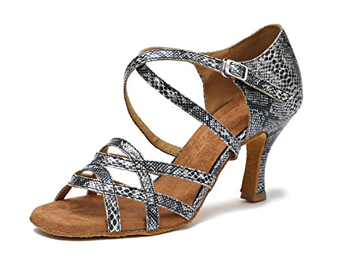 Minitoo - Ballroom donna Grey-7.5cm Heel