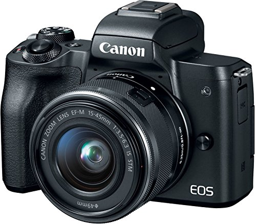 Canon EOS M50 24.1MP Mirrorless Digital SLR Camera (Black) with EF-M 15-45 is STM Lens