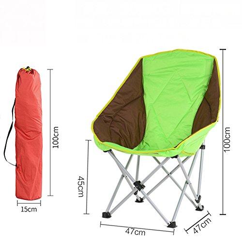 L&J Outdoor Klappstühle, Portable Campingstuhl Stabil Freizeit Angeln Stuhl, Picknick Barbecue...