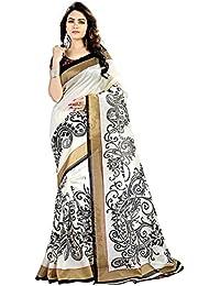 Rangrasiya Women'S Cotton Silk Saree With Blouse Piece(Bs2223_White_Free Size)