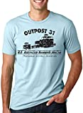 Crazy Dog TShirts - Outpost 31: US Antarctica Research Station T-Shirt Classic Movie Tee (blue) 4XL - Homme