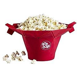 Chefn Saria289 PopTop Microwave Popcorn Popper (Cherry)