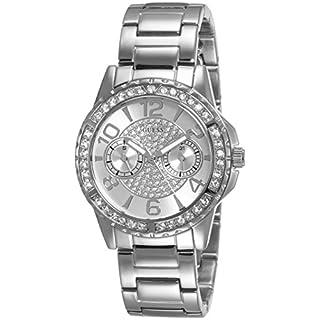 Guess Damen Analog Quarz Uhr mit Edelstahl Armband W0705L1