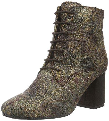 Bronx Damen Indira Kurzschaft Stiefel, Mehrfarbig (Aubergine 86), 38 EU (Leder Bronx High Heels)
