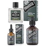 Proraso - Pack Traitement Barbe: Huile, Shampoing à Barbe, Baume à Barbe adoucissant Cyprés et Vetiver