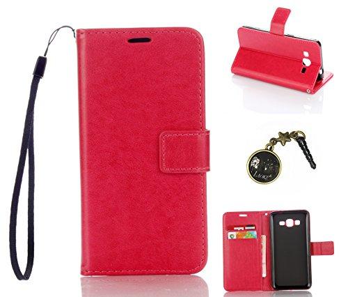 Preisvergleich Produktbild für Galaxy Grand Prime/SM-G530 G531F Hülle, Klappetui Flip Cover Tasche Leder [Kartenfächer] Schutzhülle Lederbrieftasche Executive Design (+Staubstecker ) (3DD)