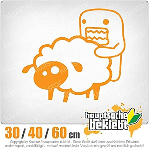 Domo sheep-disponible en 3 tailles carsticker decal autocollant pour lunette arrière
