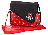 Disney Minnie Mouse Sketch Lasche Messenger Wickeltasche, rot/schwarz