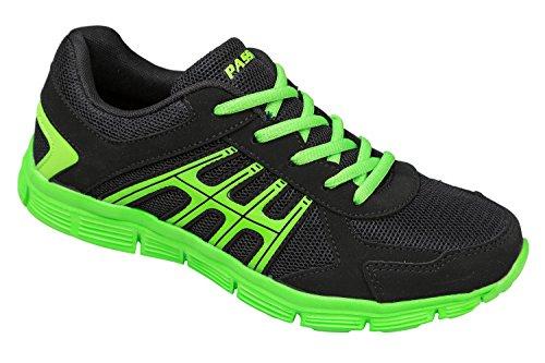 GIBRA® Sportschuhe, sehr leicht und bequem, schwarz/grün, Gr. 36-41 Schwarz/Grün