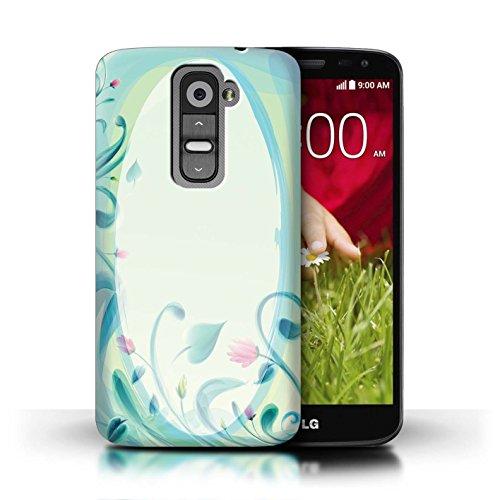 Stuff4 Hülle / Case für LG G2 Mini/D620 / Blume Leinwand/Jahrgang Muster / Teal Mode Kollektion (Kollektion Mini-leinwand-tasche)