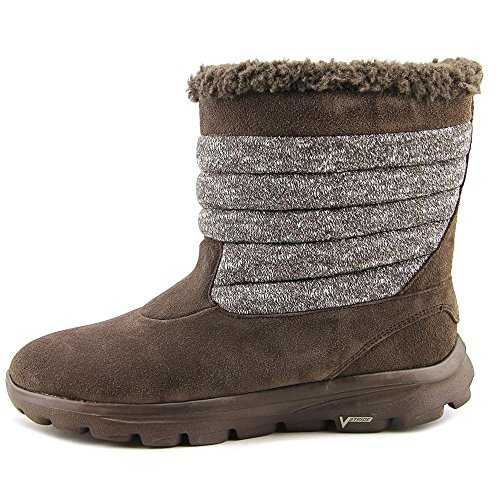 Skechers Go Marche Move-rémanence bout rond Suede Brown Winter Boot Chocolat