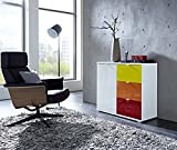 Germania 3456-185 Schubkasten für Kommode/Sideboard Colorado in Orange Hochglanz, 48 x 25 x 37 cm (BxHxT)