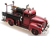 Feuerwehr Auto Metall 30 cm mit Oldtimer Nostalgie Blech Löschwagen Modell Wagen