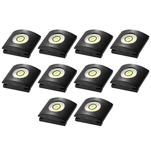Neewer 10er Kamera Blitzlicht heiße Schuh-Abdeckung mit Wasserwaage für Canon, Nikon, Panasonic, Fujifilm , Olympus, Pentax, Sigma DSLR / SLR / EVIL-Kamera