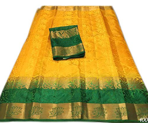 Nirja Creation Cotton Silk Saree (NC-OD-LTS-3_Yellow_Free Size)
