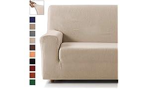 Eiffel Textile Lot de 3 Housses élastiques pour canapé 3 + 1 + 1 Place Pack 3+1+1 Plazas Blanc Ivoire