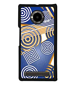 Square and Circular Patterns Back Case Cover for YU YUPHORIA