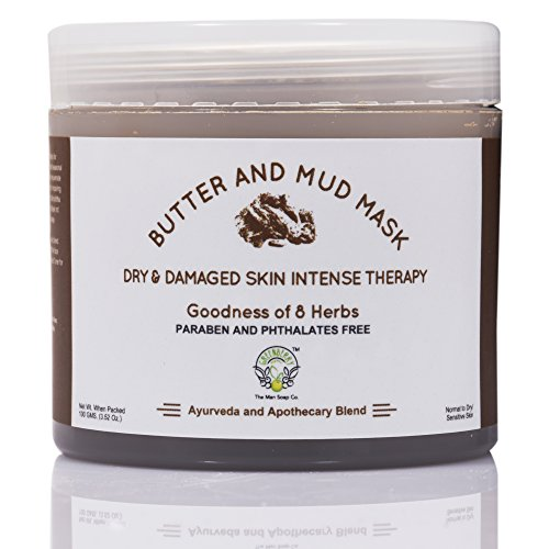 Greenberry Organic\'s Butter & Mud Mask - Dry & Damaged Skin Intense Therapy with goodness of 8 Herbs (Cocoa, Shea, Jojoba, Honey & Kaolin Clay) | Paraben & Phthalates Free | 100 GMS