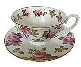 Hudson und Middleton Rose Garden Chintz Tasse und Untertasse, mehrfarbig, klein