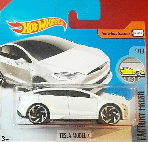 Preisvergleich Produktbild HOT WHEELS® Tesla Model X - 1:64 - weiß/metallic