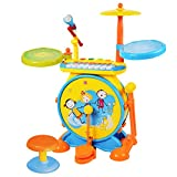 BAOLI 2-en-1 Los niños del Instrumento Musical Set De Bateria Electronica Infantil...