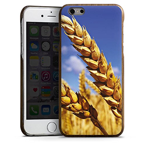 DeinDesign Apple iPhone 6 Holz Hülle Case Handyhülle Landschaft kornfeld Korn (Holz-korn Iphone 6 Case Aus)