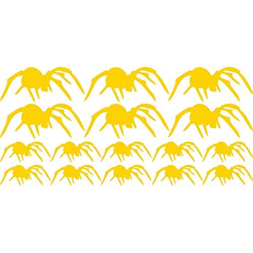 n Set kriechen Spinnen (28cm x 60cm) wählen Sie Farbe 18Farben auf Lager Badezimmer, Childs Schlafzimmer, Kinder Zimmer Aufkleber, Auto Vinyl-, Windows und Wandtattoo, Wall Windows Art, Decals, Ornament Vinyl Sticker ThatVinylPlace Gelb (Scary Halloween Namen)