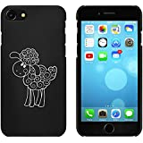 Negro 'Ovejas Felices' Funda / Carcasa para iPhone 7 (MC00080803)