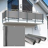Balkon Sichtschutz 6x0,75m hellgrau Balkonsichtschutz Balkonverkleidung Sichtschutzmatte Balkonverkleidung Balkonbespannung