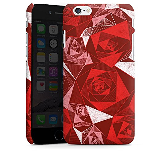 Apple iPhone X Silikon Hülle Case Schutzhülle Rot Rose Rosen Premium Case matt