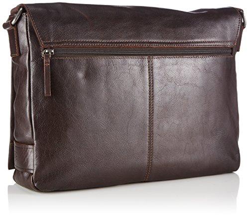 Marc O'Polo POST BAG M B0126541701103 Herren Umhängetaschen 38x30x9 cm (B x H x T) Braun (dark brown 790)