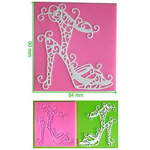 Chaussures à talon Moule Dentelle en Silicone pour décoration de gâteau/Cupcake Toppers Décoration de gâteaux glaçage pâte à sucre Par les fées Blessings outil