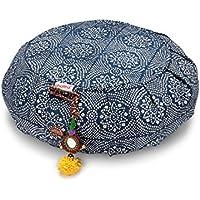 Preisvergleich für Chattra Zafu Meditationskissen, Marineblau Bandhani