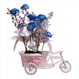 #6: JaipurCrafts Premium New Arrival Forever Collection Cycle shape Flower Vase with Mix Flowers Bunches