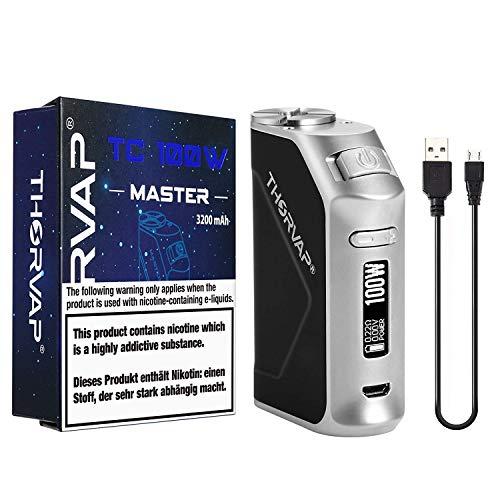 THORVAP E Zigarette 100W Box Mod Akkuträger 3200mAh, TC(Temperaturmodus) 510 Theard Elektrozigarette set Vape E Shisha ohne Nikotin